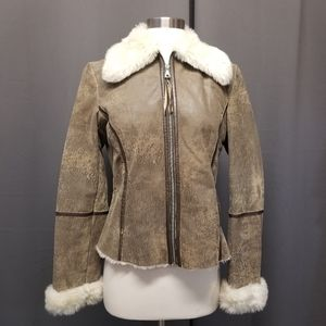 Vintage Burning Man Distressed Leather Jacket 8
